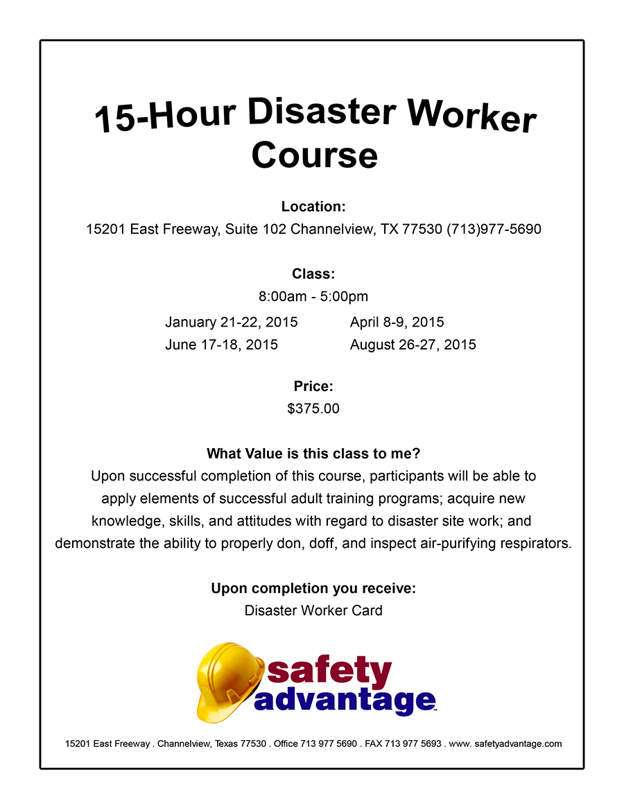 Class-Course-Flyer-15-Hour-Disaster-Worker