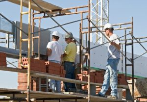 Construction firms must provide all employees working more than six feet off the ground with scaffolding and personal fall protection equipment.