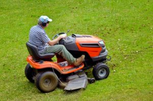 Riding mowers should always be kept away from steep embankments and water.